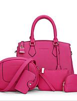 Для женщин Полиуретан Для офиса Сумка-шоппер Светло-синий Темно-синий Серый Пурпурный Красный