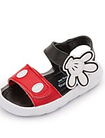 Girls' Sandals Summer First Walkers Cowhide Casual Flat Heel Red Black White