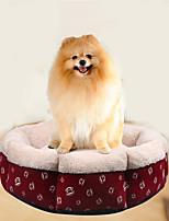Cat Dog Bed Pet Mats & Pads Soft Cartoon Red