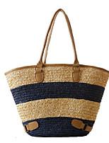 Для женщин Соломка На каждый день Для отдыха на природе Сумка-шоппер Лето