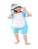 Kigurumi Pajamas Cat Leotard/Onesie Festival/Holiday Animal Sleepwear Halloween Blue Solid Cotton Cosplay Costumes ForUnisex Female Male  kid