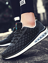 Men's Fashion Sneakers Casual Air Cushion Shoes Comfort Tulle Athletic Shoes Flat Heel Lace-up Black / Red /Blue