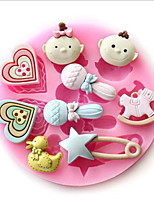 Microphone Heart-shaped Baby Duck Pins Trojan Double Sugar Cake Decoration Chocolate Resin Polymer Clay Silicone Diy Candy Mold