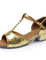 Customizable Women's  Latin Dance Shoes Leatherette  Flats Customized Heel Indoor