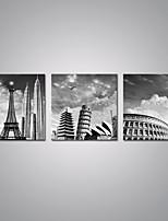 Estampados de Lonas Esticada Famoso Moderno,3 Painéis Tela Horizontal Impressão artística Decoração de Parede For Decoração para casa