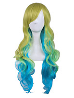 Cosplay Wig For Women Costume Wigs Dragon maid Long Curly Wigs