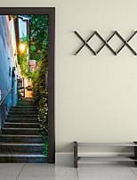 Paysage Stickers muraux Autocollants muraux 3D Autocollants muraux décoratifs,Vinyle Matériel Décoration d'intérieur Calque Mural