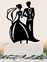 Bride And Groom Formal Dress Cake Insert Row
