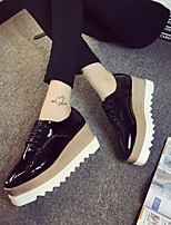 Women's Sneakers Spring Comfort PU Casual Champagne Black White