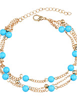 European and American fashion atmosphere multilayer floret anklets