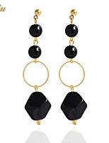Drop Earrings Earrings Set Earrings Black Gemstone Basic Euramerican Handmade Fashion Bohemian Personalized Simple Style British DIYResin