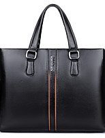 Men PU Formal Casual Event/Party Office & Career Tote Khaki Brown Black