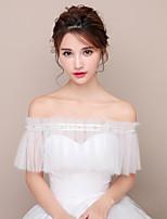 Etoles de Femme Capelets Tulle Mariage Soirée Perles Ceinture en étoffe Stras