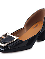 -Для женщин-Для офиса Повседневный-Лакированная кожа-На толстом каблуке-Удобная обувь-Мокасины и Свитер