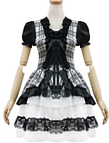 Outfits Sweet Lolita Princess Cosplay Lolita Dress Solid Short Sleeve Short / Mini For