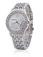 Жен. Модные часы Кварцевый сплав Группа Серебристый металл Золотистый Розовое золото