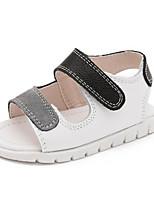 Белый Черный-Девочки-Повседневный-Кожа-На низком каблуке-Удобная обувь-Мокасины и Свитер