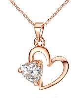 Жен. Ожерелья с подвесками В форме сердца Позолота Любовь Сердце Бижутерия Для Свадьба Обручение 1шт