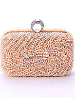 L.WEST Woman Fashion Artificial Pearls Oxidation Of Zircon Evening Bag