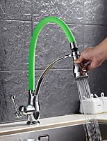 Contemporain Décoration artistique/Rétro Moderne Pull-out / Pull-down Vasque large spary Avec spray démontable Pivotant with  Soupape