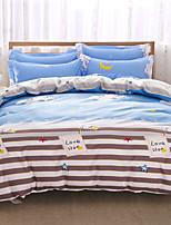 Betterhome impressão reativa capa de edredão define moda série confortável cama quatro conjuntos