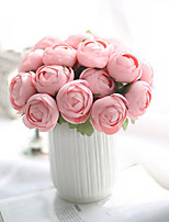 1PC 7 heads flower  Flower Branch Polyester Azalea Tabletop Flower Artificial Flowers