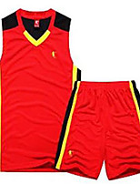 Homme Manches courtes Exercice & Fitness Basket-ball Maillot + Cuissard/Maillot+Corsaire Bretelles Cuissards RespirableBlanc Noir Jaune