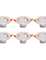 6Pcs Yangming3W 30006000K Warm White Cool White LED Canister Light (85-265V)  015