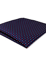 CH24 Business New Mens Handkerchiefs Pocket Square Blue Red White Dots 100% Silk Fashion Dress Unique