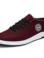 -Для мужчин-Для прогулок Для занятий спортом Повседневный-Ткань-На плоской подошве-Удобная обувь Туфли Мери-Джейн-Кеды