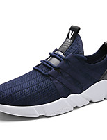 Men's Sneakers Spring Summer Comfort Light Soles Tulle Athletic Casual Flat Heel Blue Gray Black Running Shoes