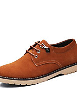 Men's Sneakers Spring Comfort Leather Suede Casual Camel Navy Blue Black