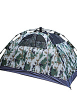 2 persons Tent Double Automatic Tent One Room Camping Tent 2000-3000 mm Fiberglass Oxford Waterproof Portable-Hiking Camping-