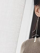 Boucles d'oreille goutte Perle imitée Mode euroaméricains Alliage Forme Ronde Bijoux Pour Soirée Quotidien 1 Paire