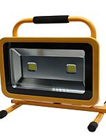 Hkv® 1pcs 100w 8850-9950lm 6000-6500k luz branca fria luz de inundação chargeable carregável luzes de emergência levou o projector (ac