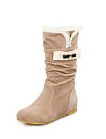 Women's Boots Fall Winter Comfort Leatherette Dress Casual Wedge Heel Buckle Walking