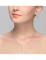 Dámské Obojkové náhrdelníky Slitina Euramerican Bílá Šperky Pro Svatební Párty Zvláštní příležitosti Narozeniny Zásnuby Ležérní 2pcs