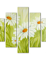 Художественная печать Цветочные мотивы/ботанический Пастораль,5 панелей Горизонтальная Печать Искусство Декор стены For Украшение дома