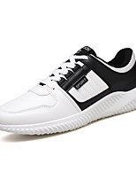 Men's Sneakers Spring Summer Comfort PU Outdoor Athletic Casual Flat Heel Lace-up Red/White Black/White Blue