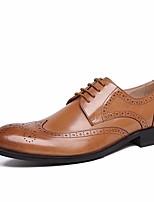 Men's Oxfords Spring Formal Shoes Comfort Cowhide Casual Light Brown Dark Brown Black