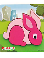 Jigsaw Puzzles 3D Puzzles Building Blocks DIY Toys Rabbit 1 Wood Model & Building Toy