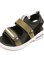 Boys' Sandals Summer Comfort PU Casual Flat Heel Green Red Black