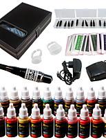 Solong Tattoo Augenbrauen Kit dauerhafte Make-up Maschine Tattoo 23 Tinte Nadel ek709-2