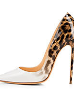 Women's Pumps Spring 2017 White Leopard Shoes Extremely High Heels Ladies Stilettos Wedding Shoes Evening Dress Shoes