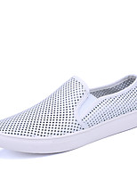 Femme-Extérieure Décontracté Sport-Blanc Noir-Talon Plat-Confort Semelles Légères couple Chaussures-Mocassins et Chaussons+D6148-Tulle