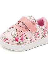 Белый Черный Розовый-Девочки-Повседневный-Синтетика-На плоской подошве-Обувь для малышей-На плокой подошве