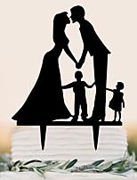 Украшения для торта Классическая пара Для вечеринок Особые случаи День рождения Новорожденный ВечерниеПляж Сад Бабочки Классика Семья
