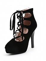 Women's Sandals Summer Comfort Leatherette Party & Evening Dress Casual Wedge Heel Stiletto Heel Lace-up