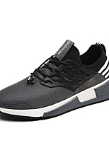 Men's Sneakers Spring Summer Comfort Tulle Outdoor Athletic Casual Running Flat Heel Gore Gray Black