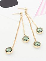 Drop Earrings Tassels Fashion Copper Round Jewelry For Party 1 Pair
